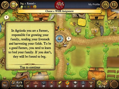Agricola, tutorial, game, screenshot