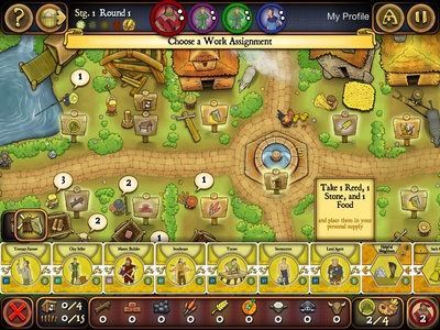 Agricola, village, board, screenshot