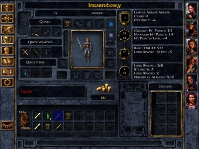 Baldur's gate, journal