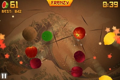 Fruit ninja, screenshot