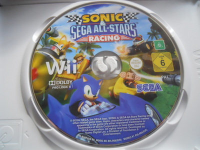 sonic the hedgehog, SEGA, all stars racing, Wii, video game, nintendo